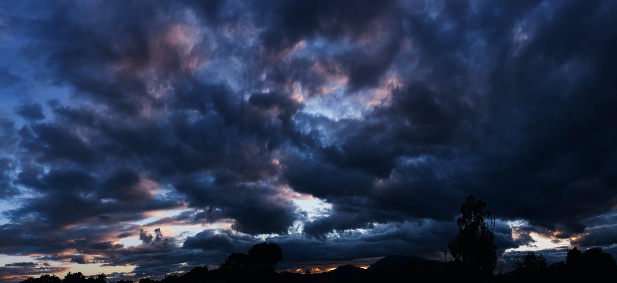 Облака и пейзажи Золотой Долины, июль 2019 года