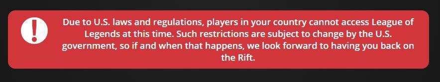 Image result for league of legends iran restrictions