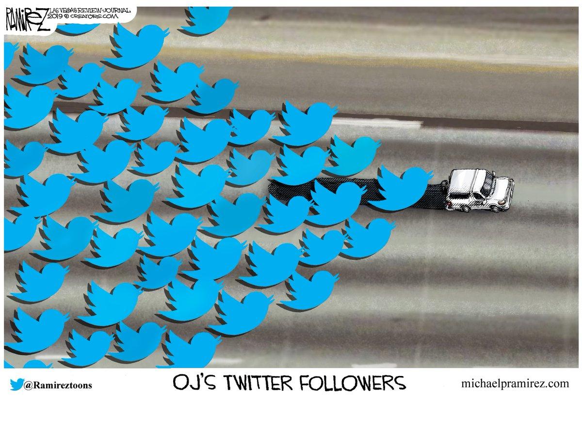 OJ'S FOLLOWERS #tcot  https://www. michaelpramirez.com/a-felon-on-soc ial-media.html  …  Like @ Facebook: http://www. facebook.com/Michael-Ramire z-Political-Cartoonist-92009530531/?fref=ts  …  BOOK: http://www. amazon.com/Give-Me-Libert y-Obamacare/dp/150111025X  … <br>http://pic.twitter.com/T2SUkLhxB7