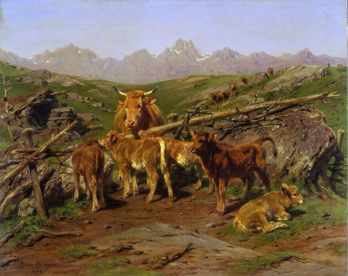 Weaning the Calves, 1879 #femaleartist #frenchart<br>http://pic.twitter.com/mJf1ay7IxP