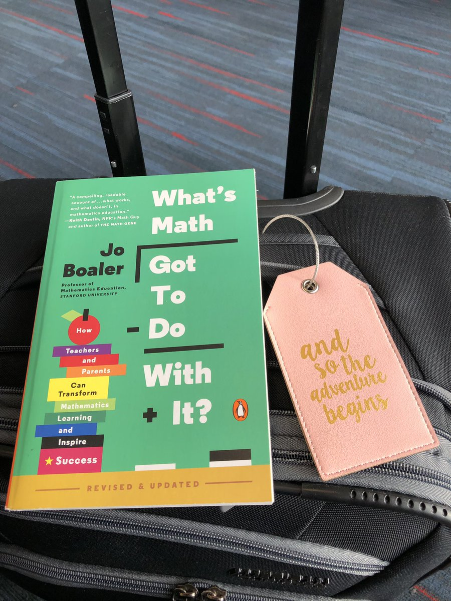 A little light reading for my flight over the ocean! 🇮🇹 #AlwaysAMathTeacher @joboaler @Ron_Martiello