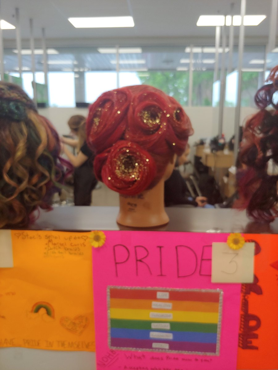 """Ms. Theresa's clinic floor students shared the love today with their """"Pride"""" projects.  Love always wins spread the word!💖🌈 #ContinentalNow #Pride #SyracusePride #StudentWork"""