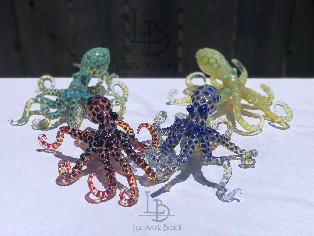 Each Octopus is made to order just for you!! UNIQUE &HANDMADE FREE PRIORITY SHIPPING INCLUDED Hand Blown Glass Octopus Sculpture Blown Beach House Decor Gifts Ocean Sea Life Decor  https:// etsy.me/2ZC2Oqi       #glassart #oceans #beach #giftideas #sealife #octopus #etsyshop <br>http://pic.twitter.com/a8qK7AZknP
