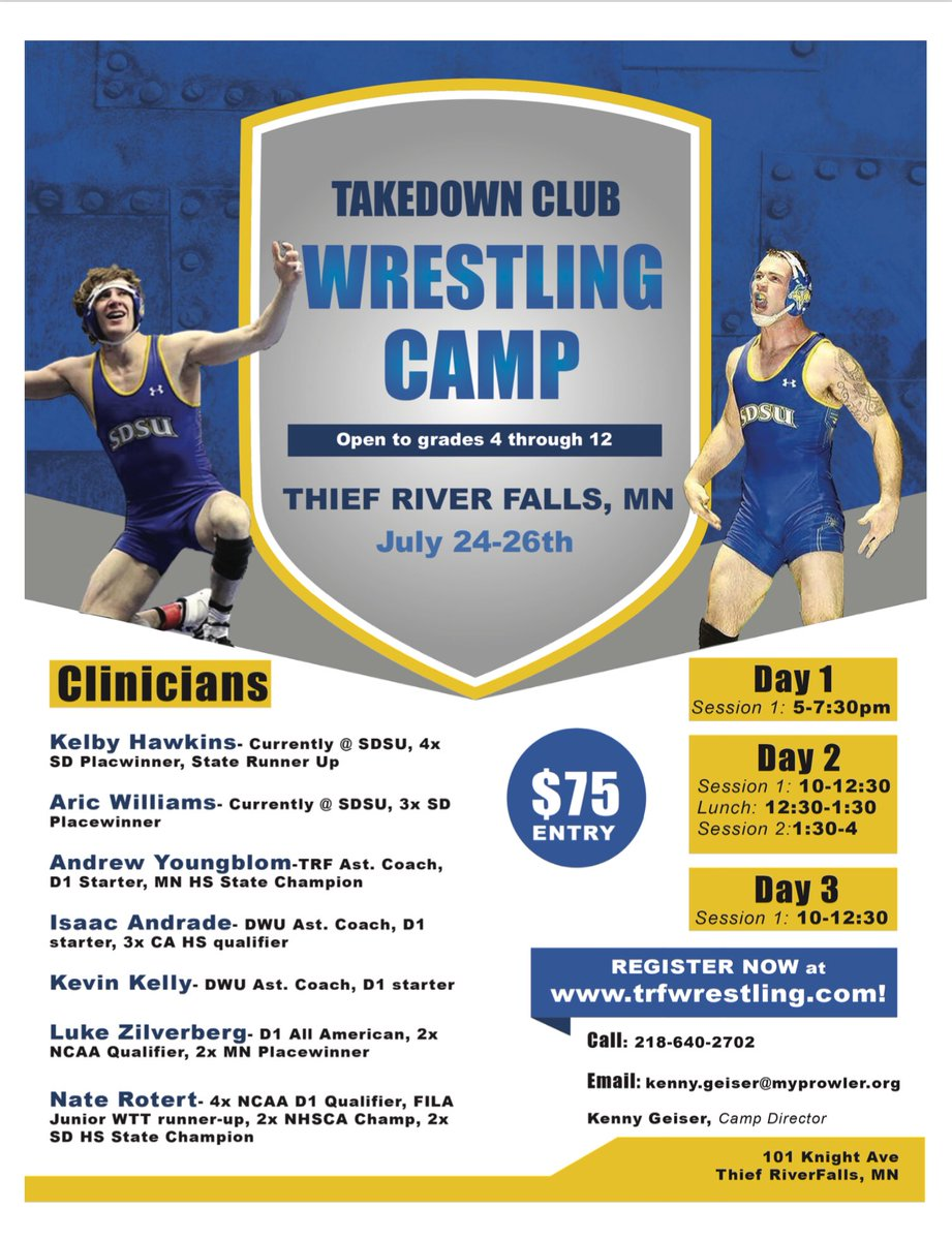 An opportunity to get better this summer with @TRF_Wrestling !