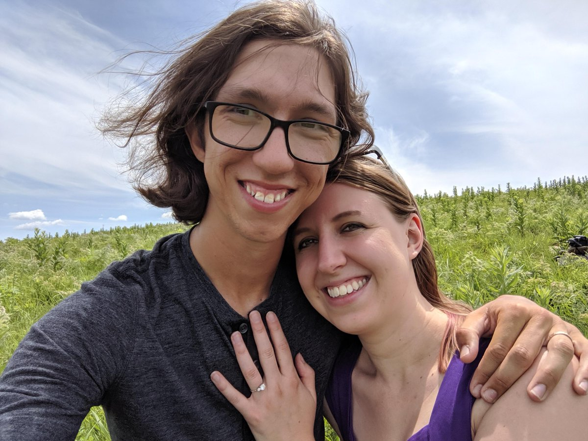More Big News in the #BoyleLab and this time, not scientific... 2 of my academic 'offspring' got engaged! I am so happy for you @skwinnicki & @inkliizii; i wish you both a very happy future together!