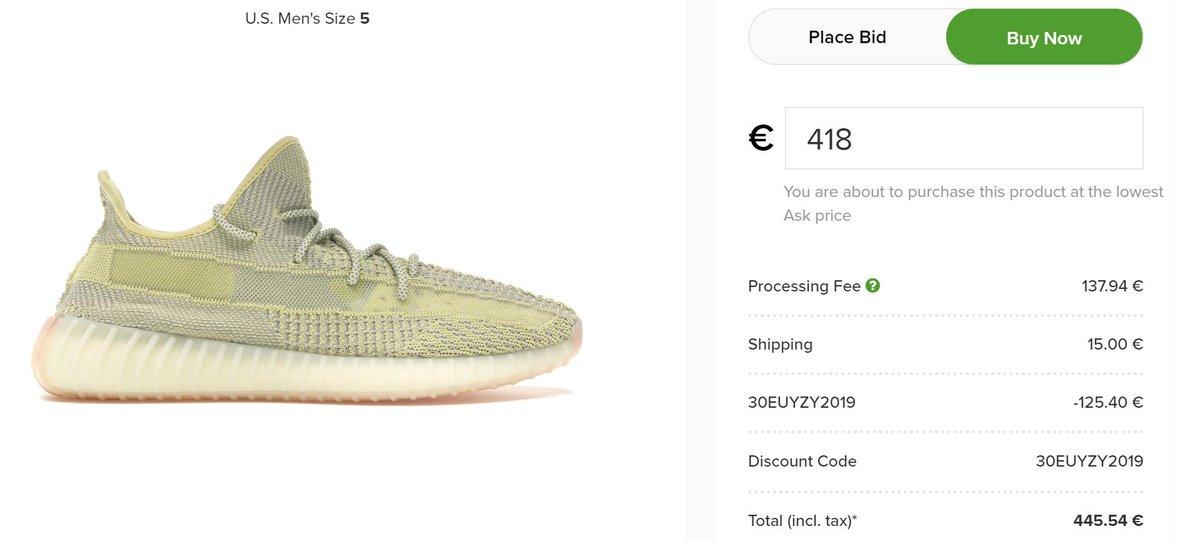 9b747f90 ... 30% OFF both adidas Originals Yeezy Boost 350 V2 'Antlia' on @stockx  Use code 30EUYZY2019 Shop here : Non-Reflective:http://bit.ly/2Rj2NVt ...
