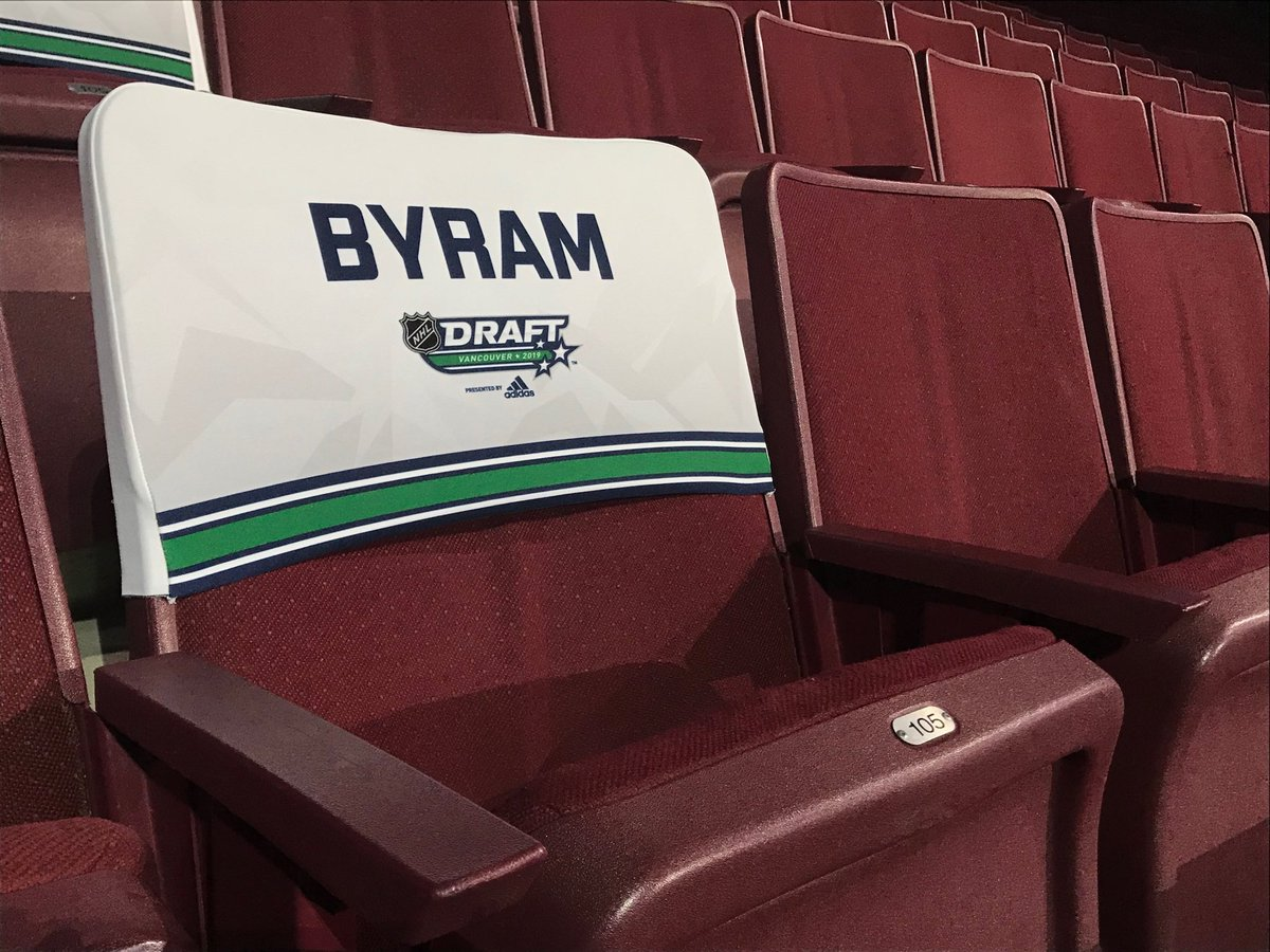 Bowen Byram's seat is ready, we'll tell you which team takes him at 6 @CTVVancouver @WHLgiants https://t.co/gcQTS3w5CH