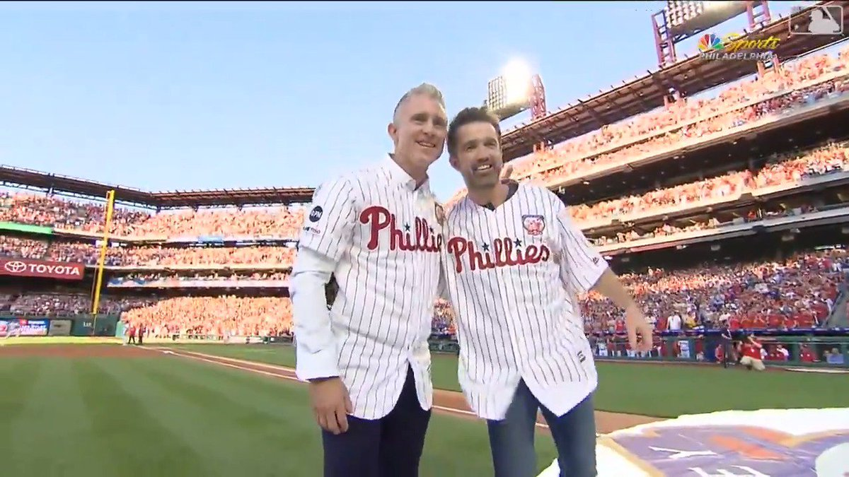 Mac finally had his catch with Chase Utley.  Dreams really do come true.