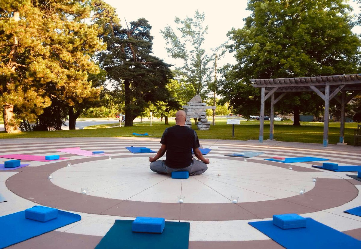 Are you ready to join us? @wellwood_ca  What a beautiful evening for us to relax and unwind, welcoming in the season. Yoga begins at sunset #SummerSolstice #yoga #relax