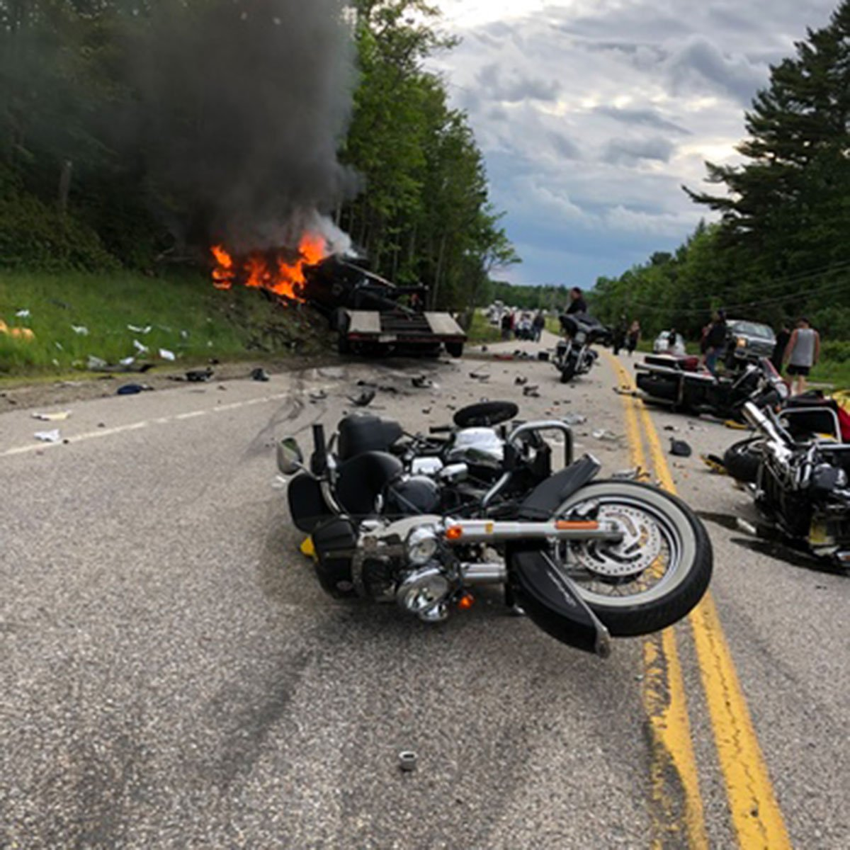 7 bikers dead in crash