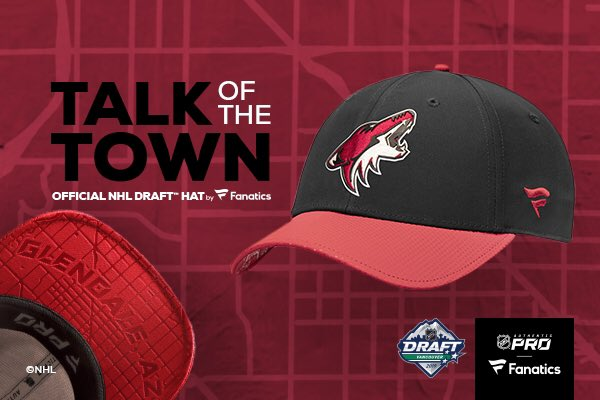 RT for a chance to win an official 2019 #NHLDraft hat. 🧢   Hats can be purchased at @TheCoyotesDen starting today.