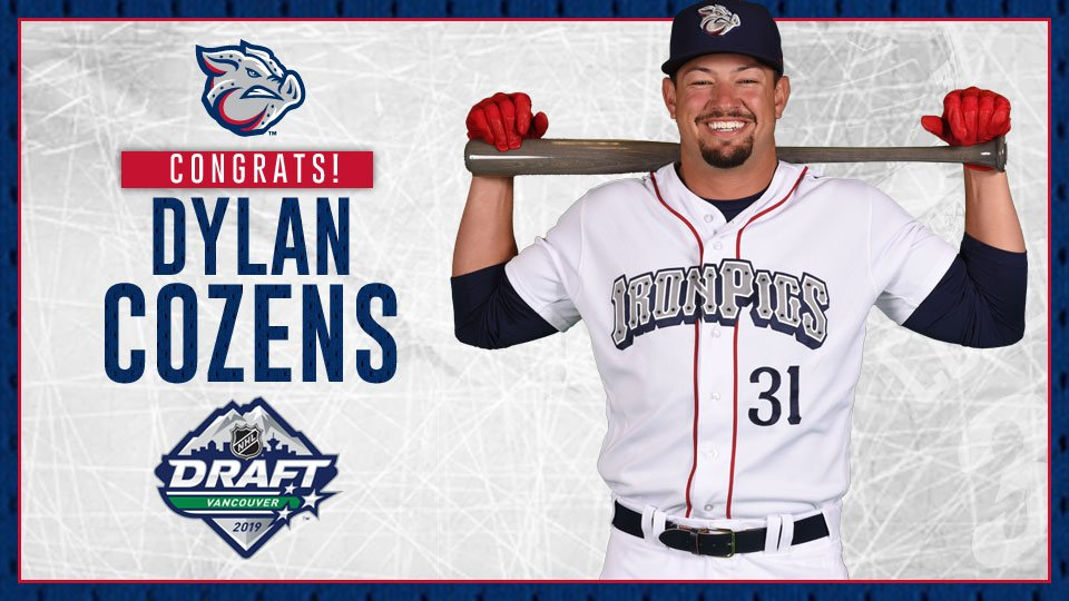 Wow. Congratulations to @dylancozens on going seventh overall in tonight's @NHL Draft.  The @BuffaloSabres got a good one!