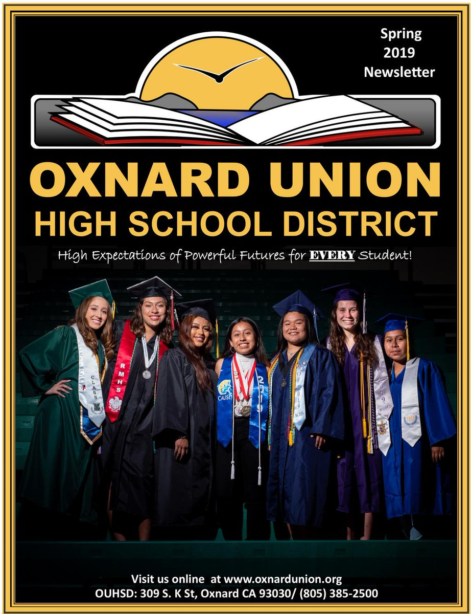 Hello OUHSD Family!  We are happy to announce the release of our 2019 Spring Newsletter where we feature stories of our students, faculty, staff, and members of the community.   :: English Spring Newsletter :: > https://t.co/GK1NNommPP https://t.co/MXp7d7v0Uw