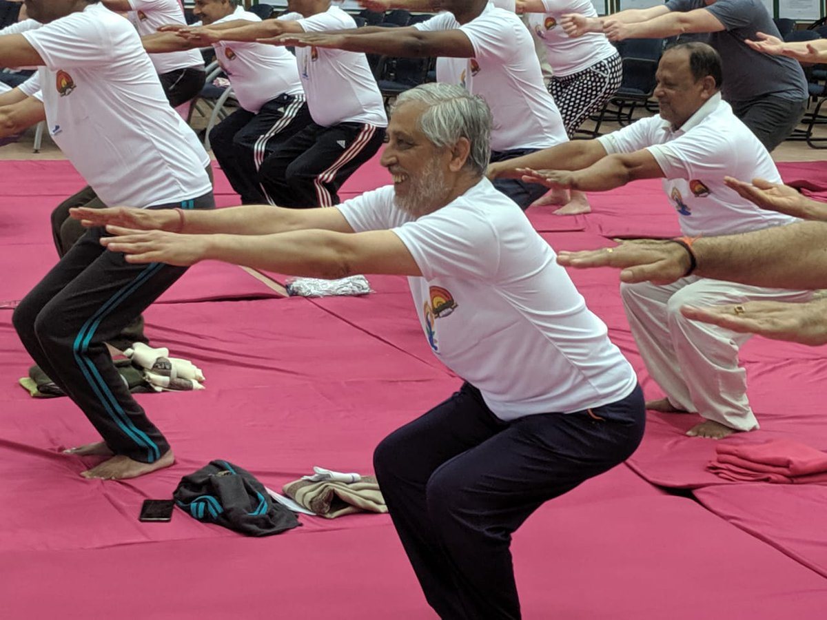 """AICTE on Twitter: """"Hon'ble Chairman AICTE and other AICTE officials celebration Yoga Day.… """""""