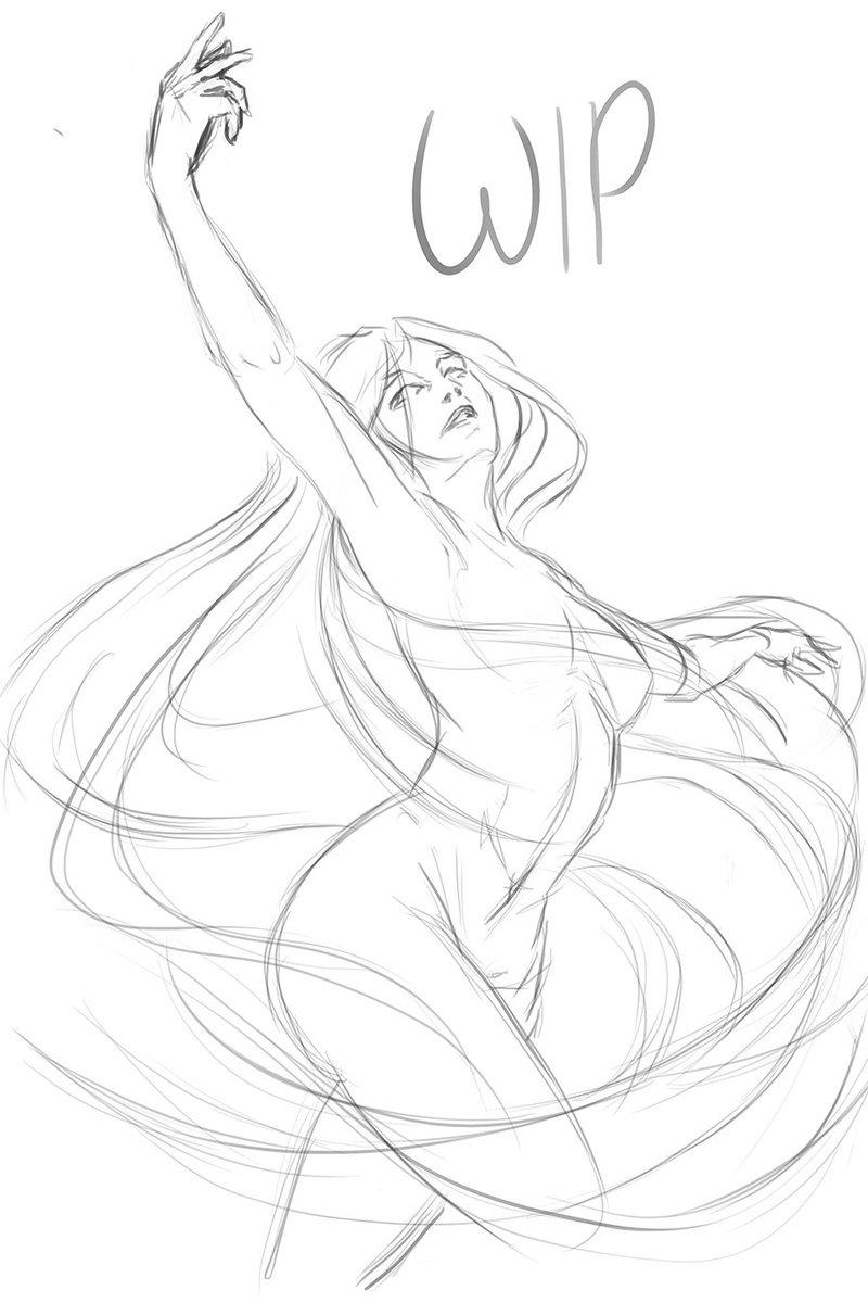 Drow Moon Dd Fantasy Art Drawing