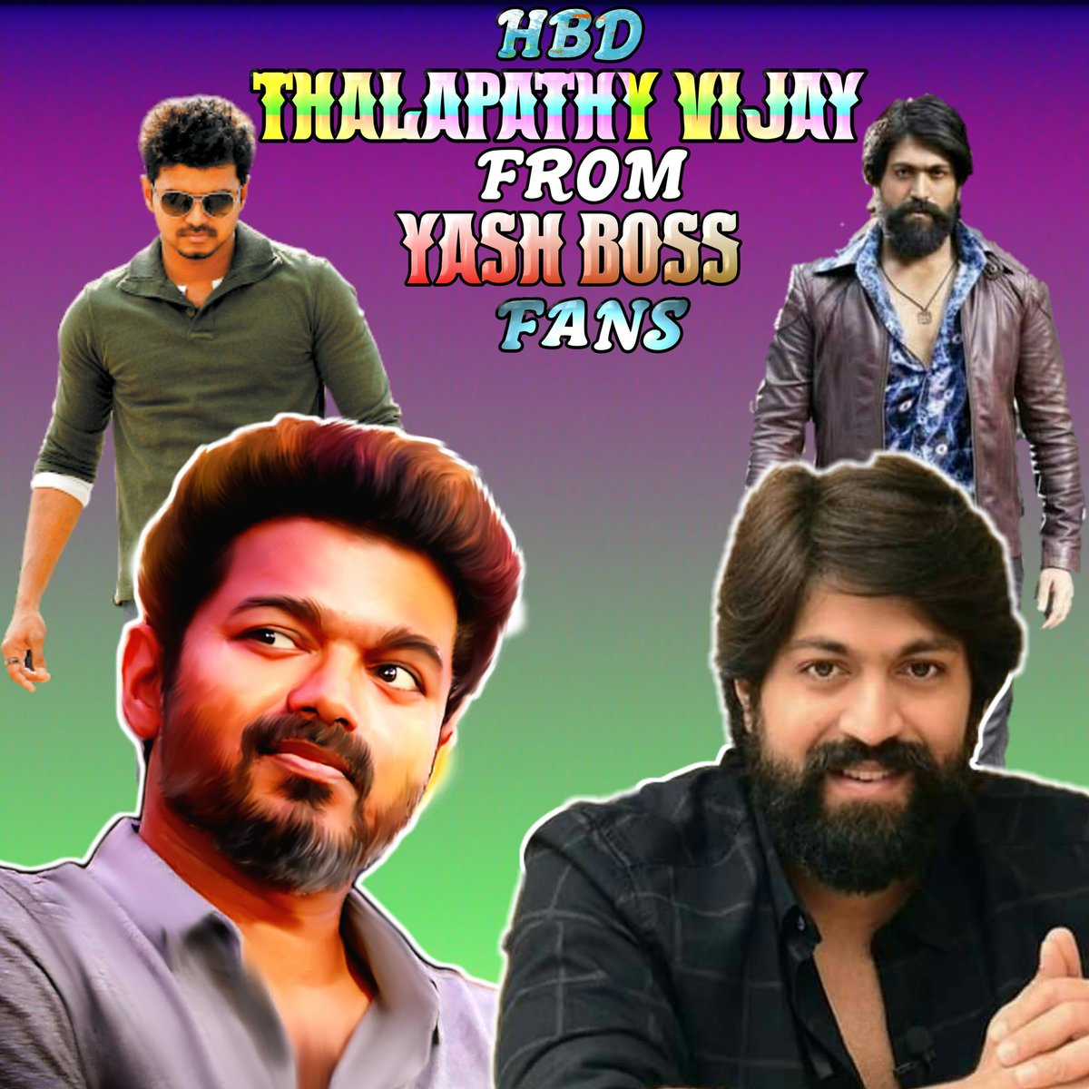 Thank you vijay sir and his fans for your support to #KGFChapter1 All the best to #Bigil #HBDVijayFromYashBossFans  #HBDEminentVijay