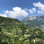 Blue skies on a sunny day in NE Albania. Note the network of terraced farms along the steep mountainsides where locals grow seasonal crops. #albania #balkans #mountains #ethnobotany #fieldresearch #explore #planthunter
