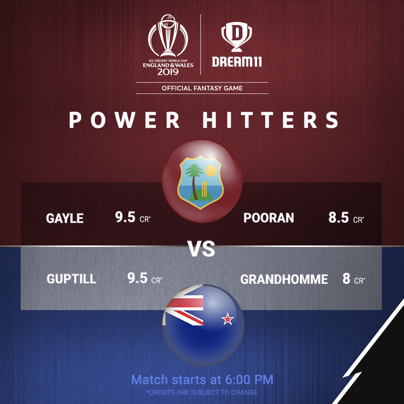 They are here to dominate the field in every department. Which of these All-Rounders is going in your #Dream11 tonight? Click here to make your teams -  http://d11.co.in/WorldCup-2019    #YeGameHaiMahaan #CWC19 #WIvNZ