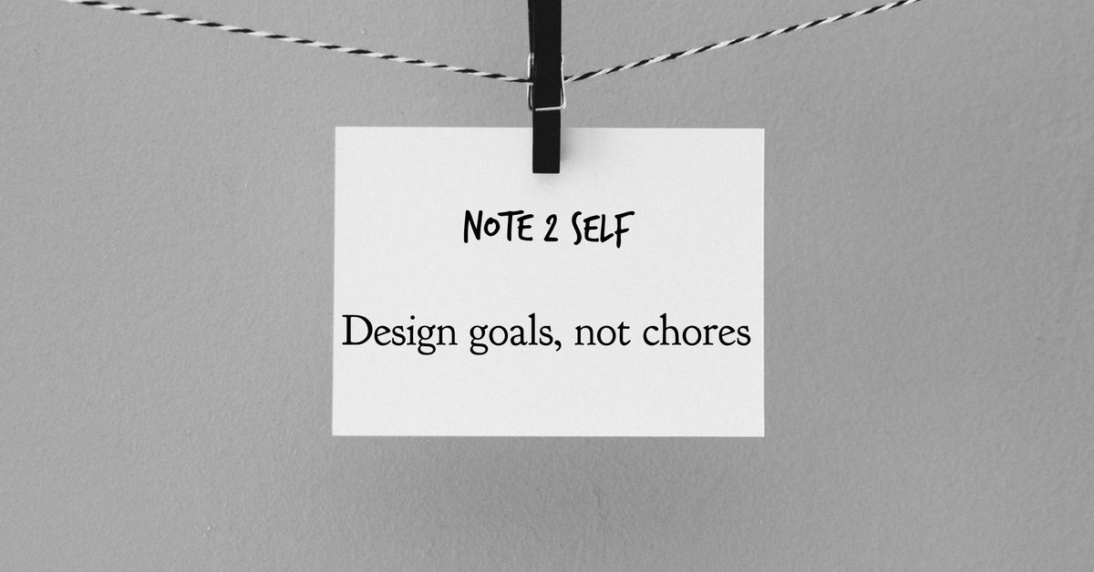 Remember a goal is never a chore #goals #knowledgetoelevate #knowledgemanagement @VirtuosoVA