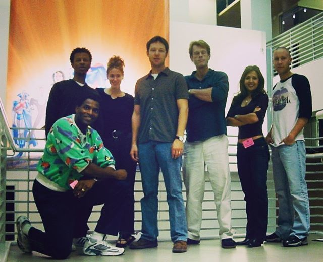 #fbf To my #JusticeLeague at the old WB offices in 2001 - Carl Lumbly, @SusanEisenberg1, @GeorgeNewbern @RealKevinConroy @Maria_CB & @MichaelRosenbum #JLReunion  http:// bit.ly/2IYrum8    <br>http://pic.twitter.com/ZXguzjDo0i