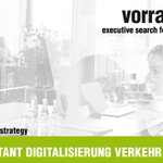 Image for the Tweet beginning: SENIOR CONSULTANT DIGITALISIERUNG VERKEHR &