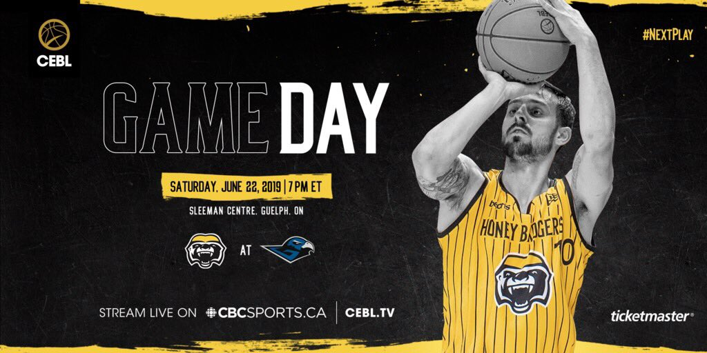 Lights, camera, action   GAME DAY    Sleeman Centre, Guelph  7 PM   Watch the game on  http:// CEBL.tv      or @cbcsports   #NextPlay | #HoldCourt<br>http://pic.twitter.com/elBtvlBtUD