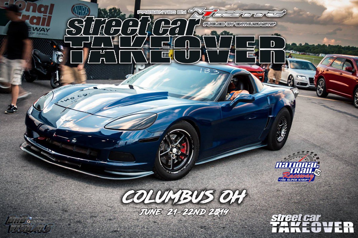 Today is Street Car Takeover!  Gates open at 8:30 am with Roll Racing starting at 12 pm and Drag Racing at 4 pm!  Don't miss it! #nationaltrailraceway #columbus #lickingcounty #streetcar #streetcartakeover #racing #dragracing #streetracing #rollracing #ohiocars #fastcars