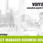 Image for the Tweet beginning: SENIOR PROJECT MANAGER BUSINESS DEVELOPMENT