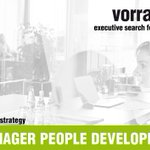 Image for the Tweet beginning: SENIOR MANAGER PEOPLE DEVELOPMENT (w/m/x)