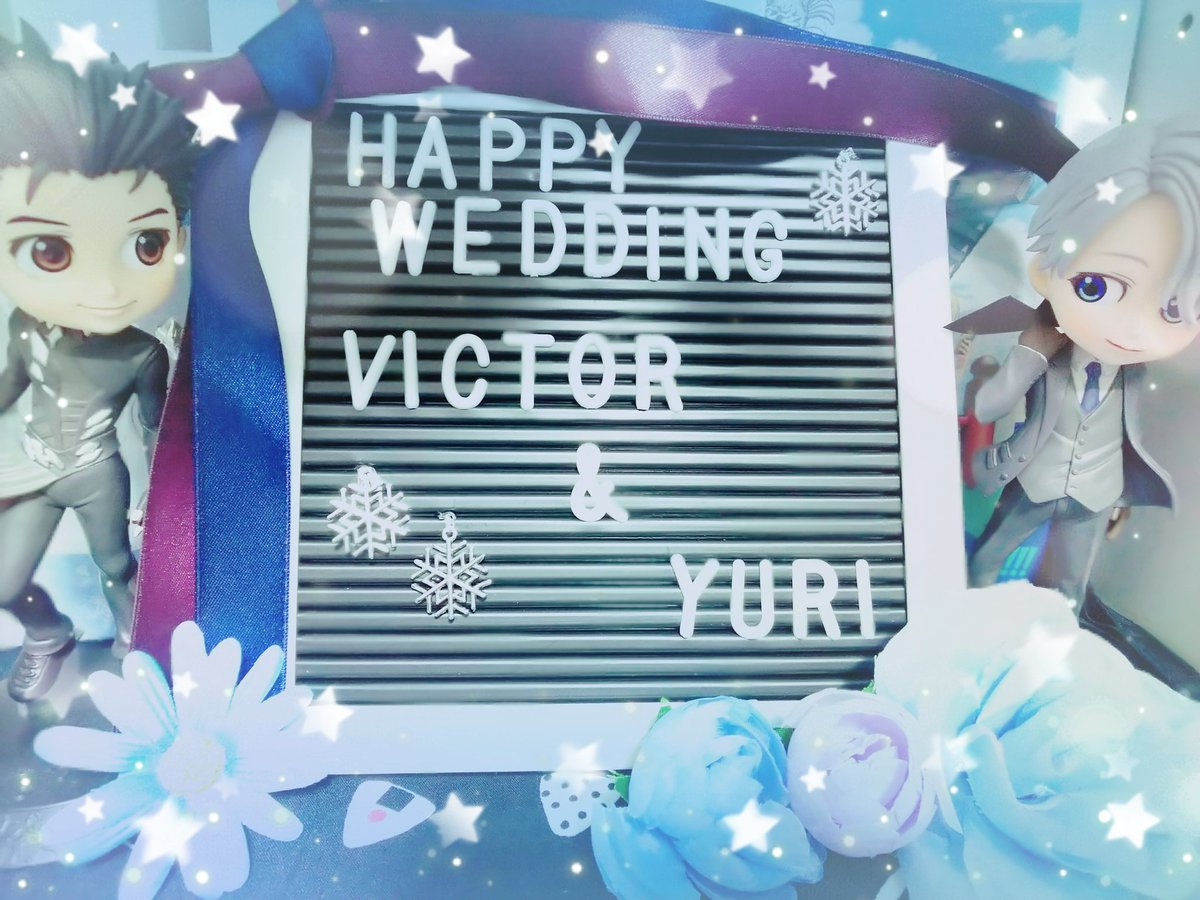 test ツイッターメディア - キャンドゥでレターボード買ったからヴィク勇の結婚式のウェルカムボード作っといた☺️ これ以外の使い道が浮かばない…  #ヴィク勇 #キャンドゥ https://t.co/n7xJbdtGmR