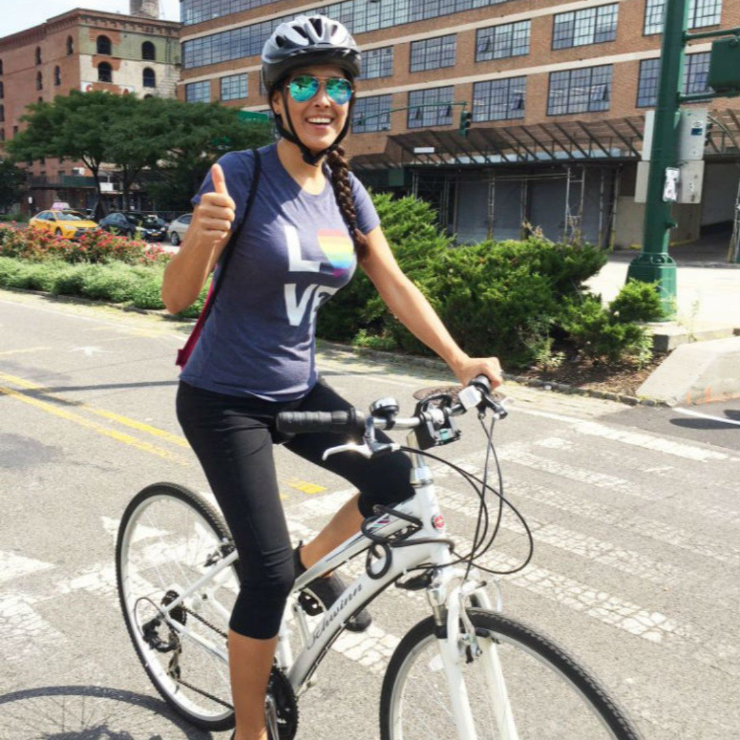 Diagnosed with a labral tear and #hipdysplasia, Cecilia came to HSS for a second opinion. Following a successful hip arthroscopy, Cecilia is back on her bike, working out at the gym and walking as much as she did before her injury: http://ow.ly/7MUw50uK2YF.