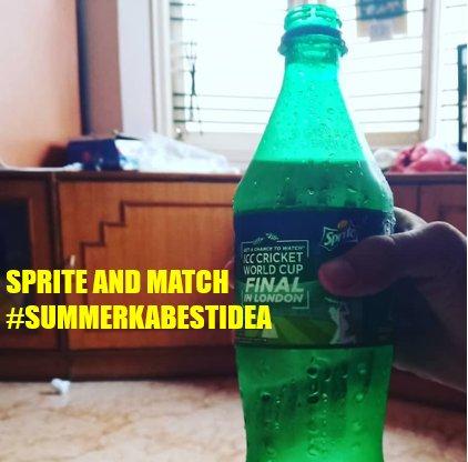 I Never Miss To Drink A Bottle Of Sprite In Summer #SummerKaBestIdea #INDvsNZ @sprite_india