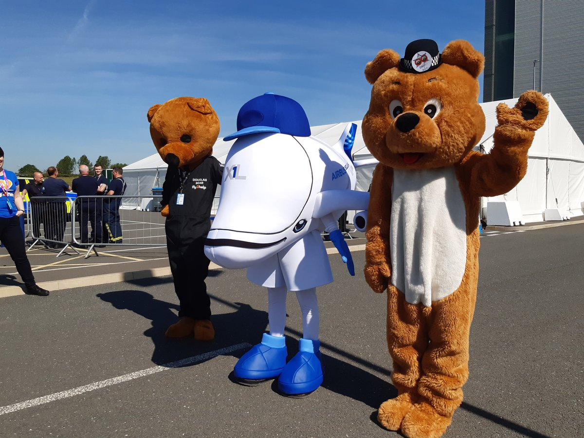 BROUGHTON | So today is #AirSmiles Day at #Airbus Broughton. We hope you have a wonderful day. #WeMakeItFly