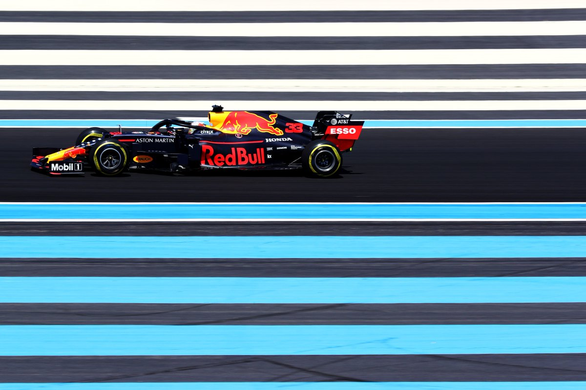 One last chance for the Bulls to getout on track beforeQualifying, as FP3 commences.  #AstonMartinRedBullRacing #FrenchGP