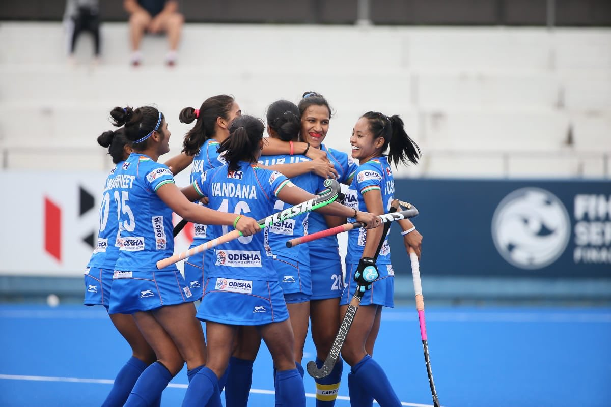 Congratulations to Indian Women's #Hockey team on defeating #Chile in an exciting semi final match of FIH series hockey tournament in #Hiroshima, Japan.  Wish you all the best for #FIHSeriesFinals.#INDvsCHI #IndiaKaGame