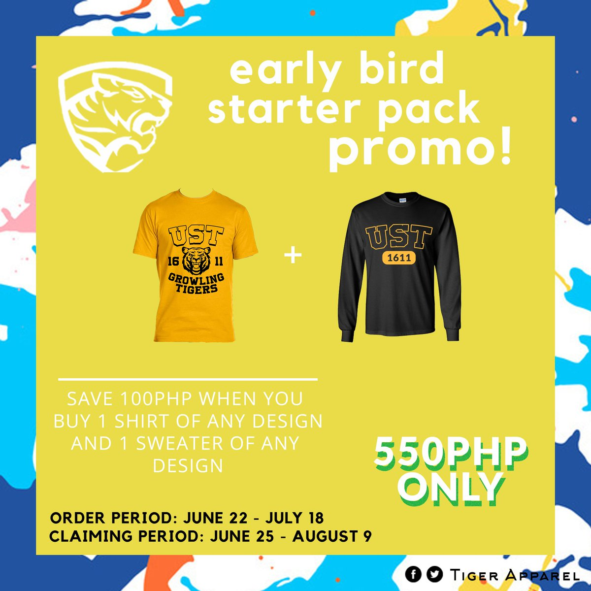 Wait, there is more!! The early bird always catch the worm!  Place your order from June 22 - July 18 and claim it from June 25-August 9 to avail our early bird starter pack promo! That's a huge 100php discount already  Buy yours now! <br>http://pic.twitter.com/4LyE1wnr6S