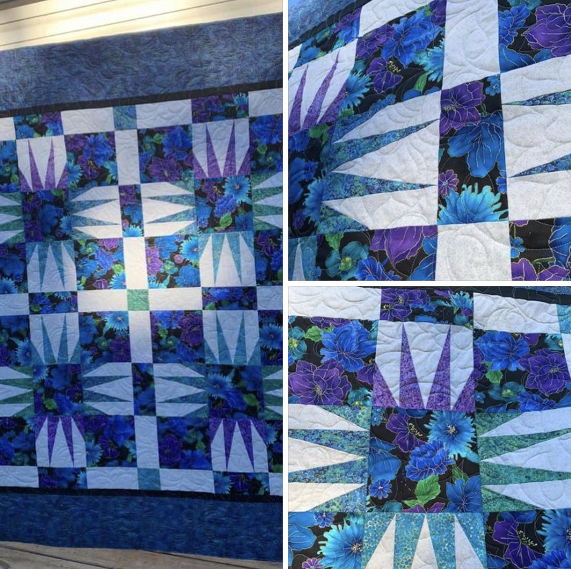 This beautiful quilt was picked up last night! It was created during the Dolley Madison Quilters Guild paper piecing class with Debby Kratovil, isn't it just beautiful? #paperpiecing #debbykratovil #edgetoedgequilting https://t.co/HIznmIwi7v