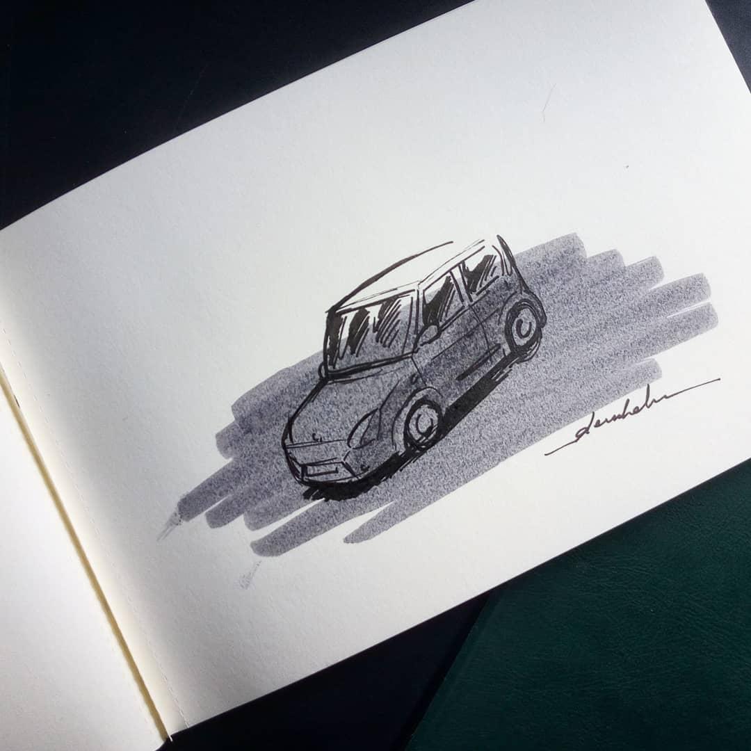 Car #dailyart #dailyillustration #car #cars #city #citysketch #citycenter https://t.co/ChFqSP1DZk