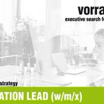 Image for the Tweet beginning: LEAD INNOVATION LEAD (w/m/x) |