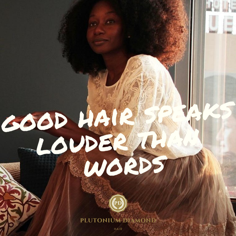 Good hair speaks louder than words. #PlutoniumDiamondHair * * * *  #beautifulhairstyle#fabulous#lu