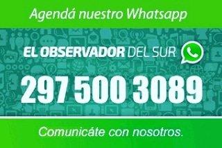 #TuNoticiaNosInteresa #Chubut #Patagonia  Escribinos, envíanos fotos ó vídeos y compartimos tu información.  #ElObservadorDelSur