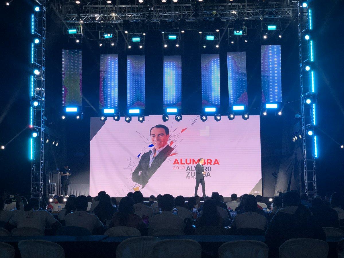 """""""Iniciamos una era de integración"""" - @AlvaroXuniga, Presidente y Fundador #Fuxion para #Alumbra2019 https://t.co/x2L68g9cie"""