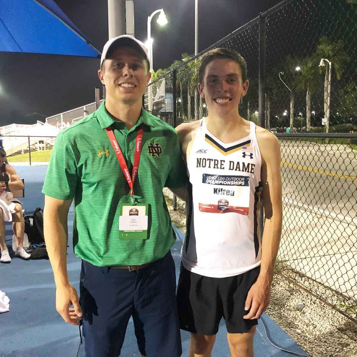 Notre Dame Freshmen Danny Kilrea Wins USATF U20 10,000-meter race