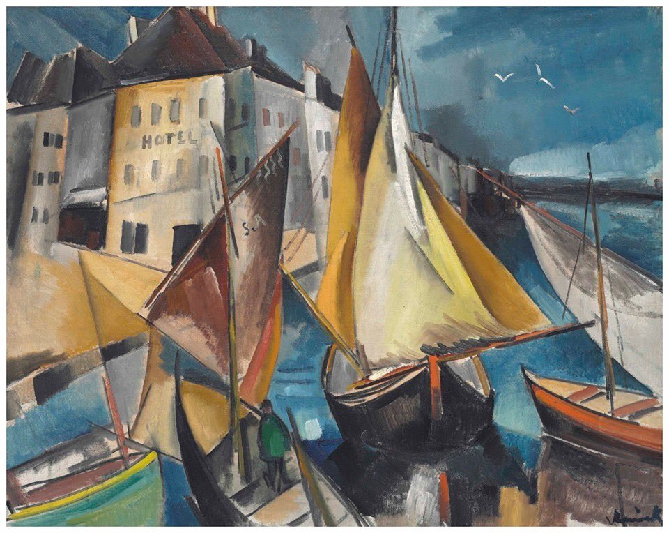 RT @BluesignV: The first of two paintings by Maurice de Vlaminck: The Port, 1910-11. Oil on canvas. https://t.co/tPZhQaIN6L