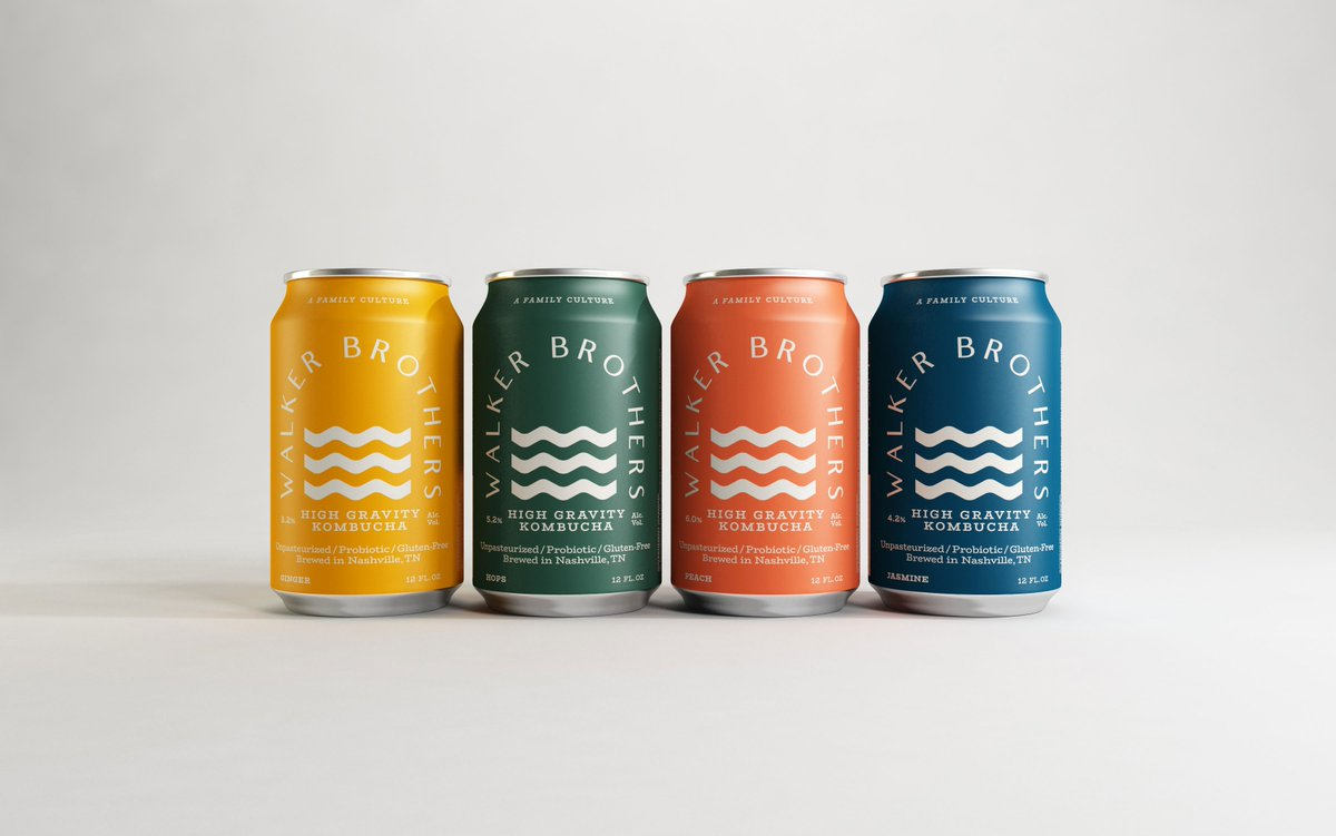 Is it a beer? Is it juice? 🍻 This beautiful boozy branding is refreshing, colorful + delicious > aigaeod.co/2Z0Qj7c
