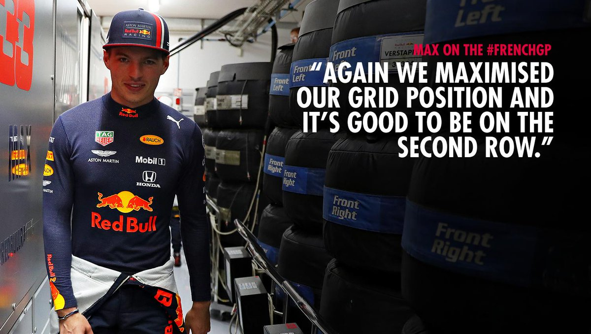 """🗣 """"Tomorrow will be all about tyre management."""" @Max33Verstappen on #Quali at the #FrenchGP 🇫🇷👉 https://win.gs/QReacFGP19 #F1"""