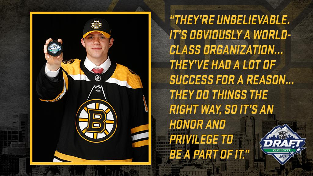 Embracing the Spoked-B. 👊 @JohnWbeecher | #NHLBruins
