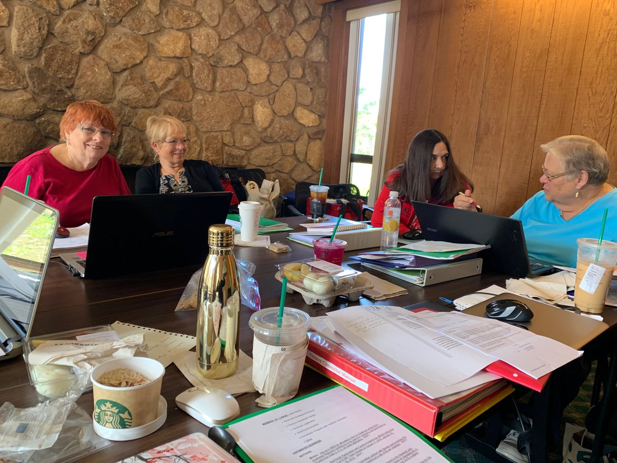 DKG Finance Committee working for a strong fiscal year. #womeneducators #dkgca #womenleaders