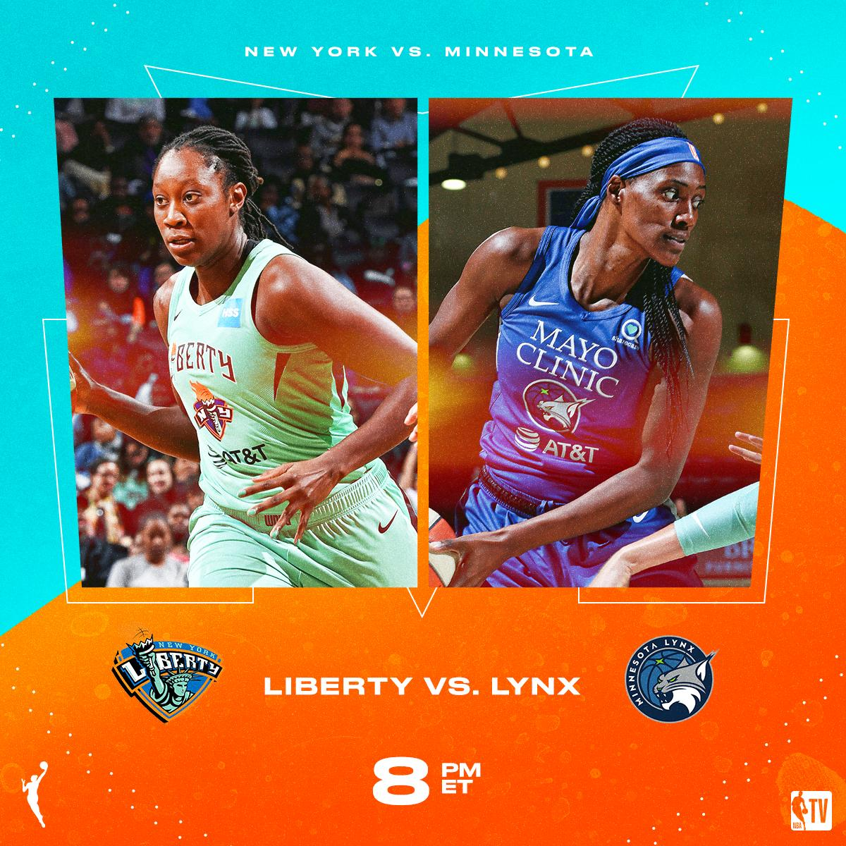 The @minnesotalynx host the @nyliberty // NEXT on NBA TV! 📺🏀