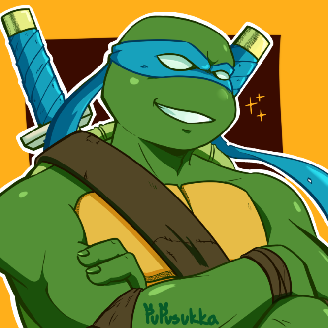I am little late for the party but my #1stCartoonCrush was Leonardo from TMNT 2k3 animation. I was SWOON for many years, but now that Ive grown up he is now my little honor bby💙